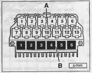 блок реле в салоне ауди а4 б5