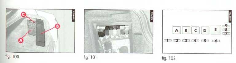 блок предохранителей в багажнике 166