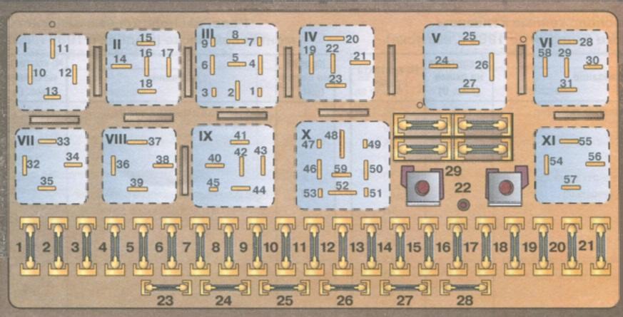 Audi 80 90 блоки под капотом схема