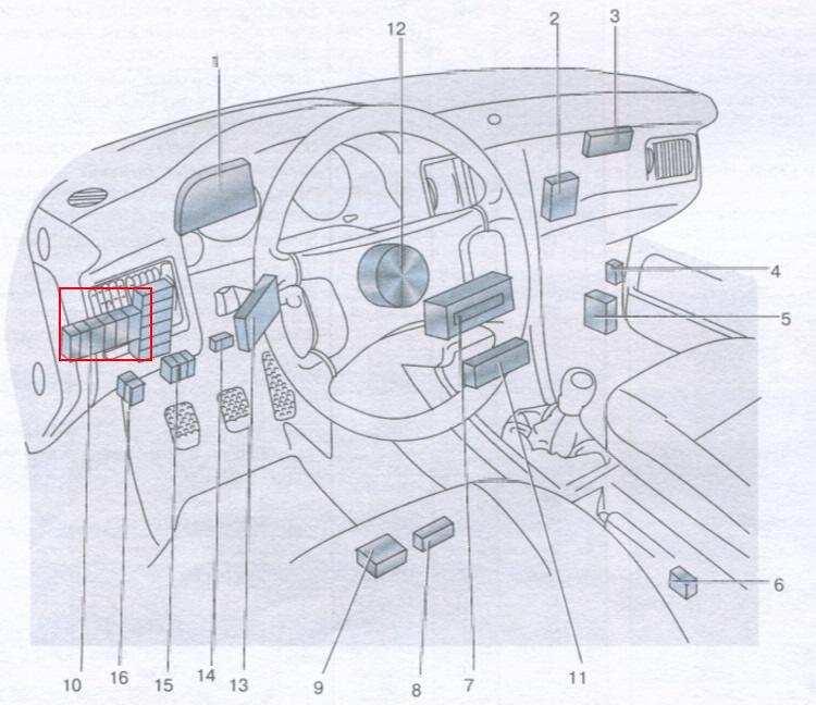 Audi 80 90 блоки в салоне