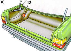 предохранители в багажнике