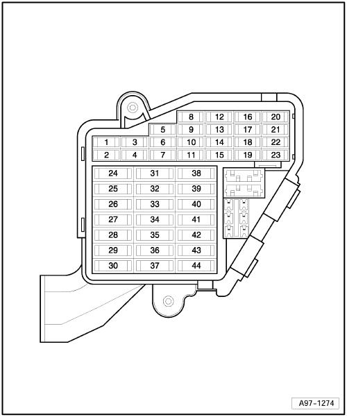 схема блока предохранителе а6 с6