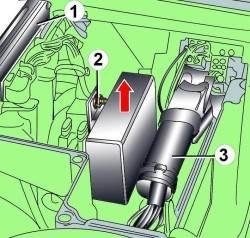 схема доступа в моторном отсеке