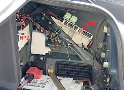 Блоки в багажнике