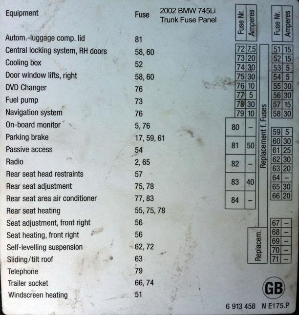 BMW-745-схема для багажника