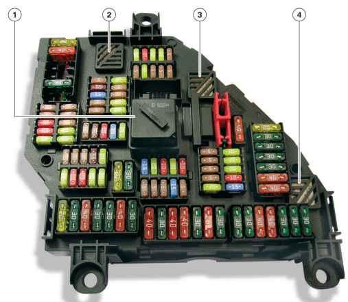 блок предохранителей в багажнике f01