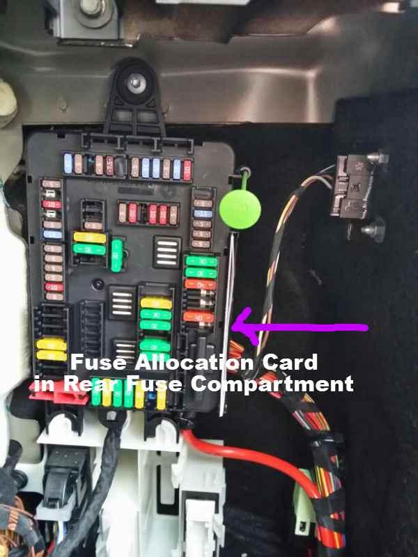 фото блока в багажнике х5