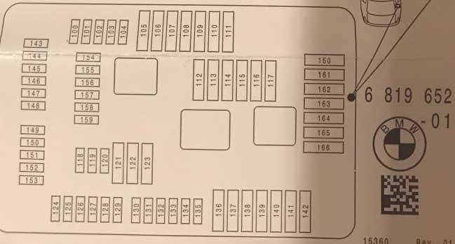 схема блока предохранителей bmw x5 f15 в багажнике