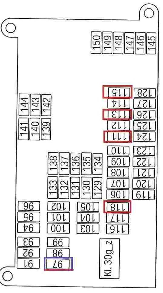 схема блока с предохранителями бмв х6 в багажнике