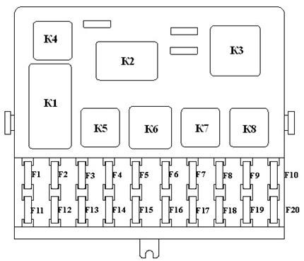 Вариант 2 схема блока с реле