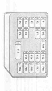 aveo T250 общая схема блока с предохранителями