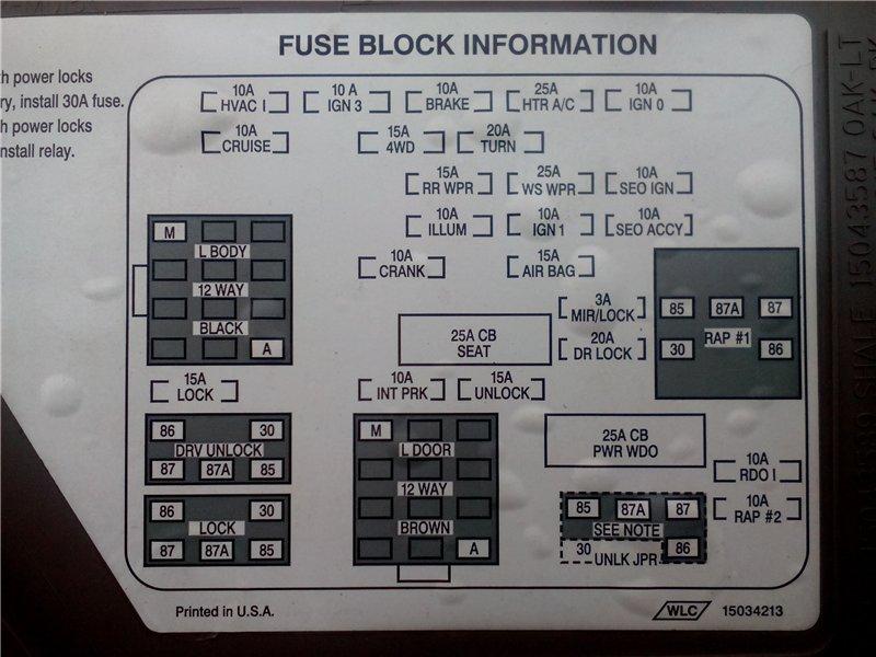 схема блока в салоне вариант