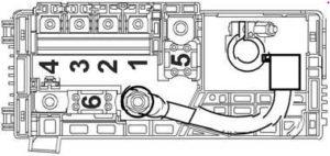 схема предохранителей на аккумуляторе