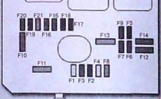 Схема блока в моторном отсеке с 2010