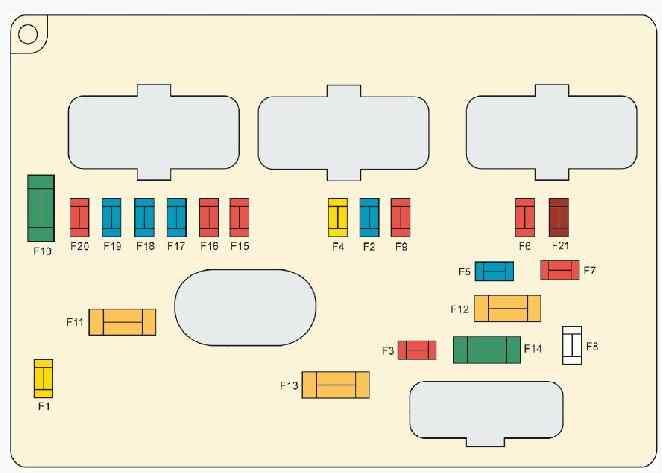 блок в моторном отсеке - схема 2