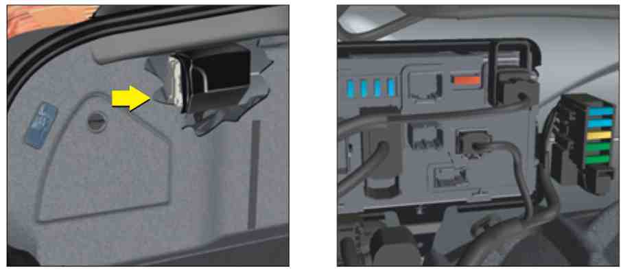 Доступ к блоку в багажнике с6