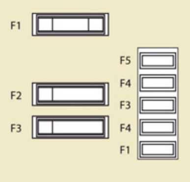 Схема блока в салоне около аккумулятора