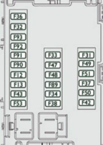 схема блока в приборной панели вариант 1
