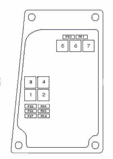 схема блока с предохранителями рядом с пассажирским сидением тип 2