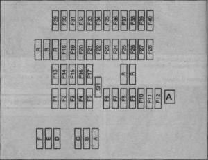 схема блока с предохранителями ксара пикассо
