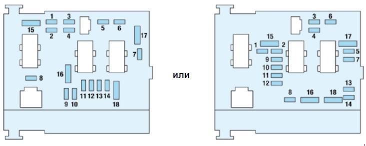схема блока под капотом пежо 206