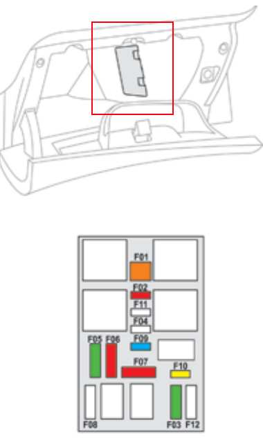 схема блока в бардачке