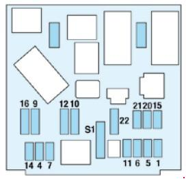схема блока в салоне пежо 206
