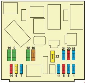 схема блока в салоне вариант 1