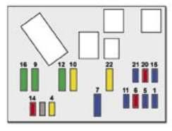 Схема блока в салоне пежо 407 вариант 1