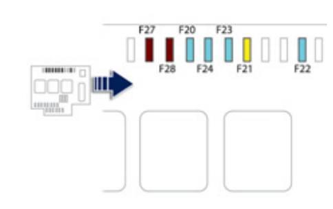 схема блока в моторной отсеке