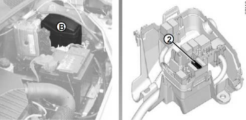 Расположение блока в рено доккер