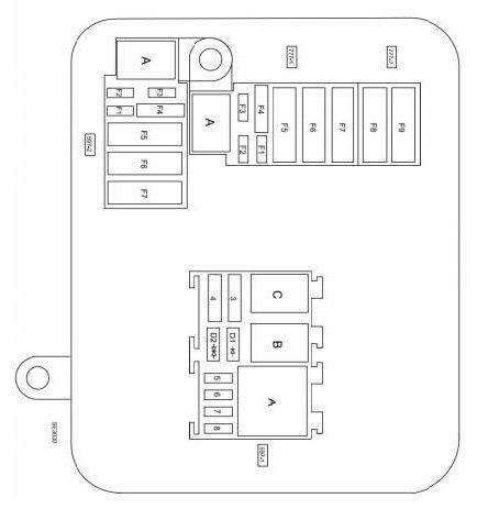 Схема в салоне рестайлинг