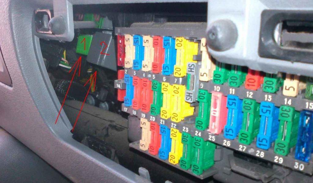 фото блока с предохранителями в салоне