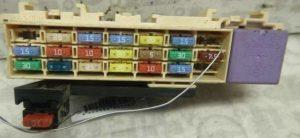 фото блока в панели рено клио