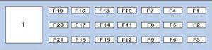 рено-клио 3 блок-в-салоне схема