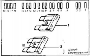схема блок с предохранителями рено 11 и 9