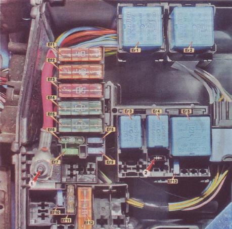 Схема блока под капотом логан 2