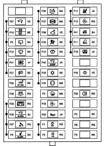 схема блока в салоне 3 эспейс
