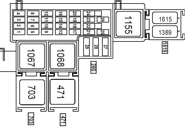 схема предохранителей в салоне 2