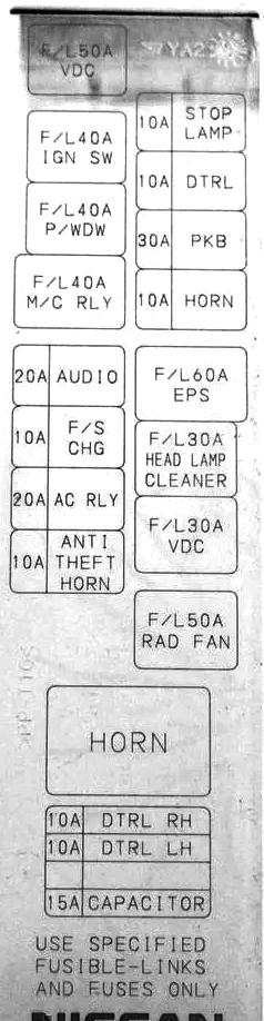 пример схемы с блока под капотом