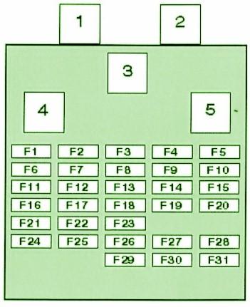 полная схема блока в салоне