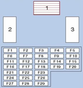 схема блока в салоне y61