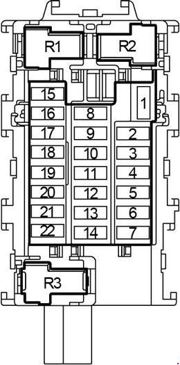 схема блока в салоне e12