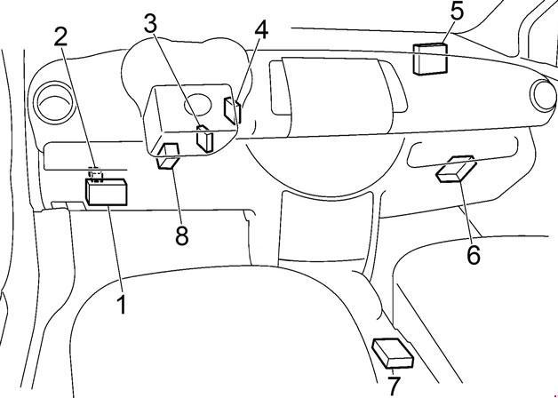 схема расположения всех блоков в салоне е11