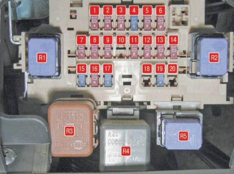 Фото схема блока под капотом