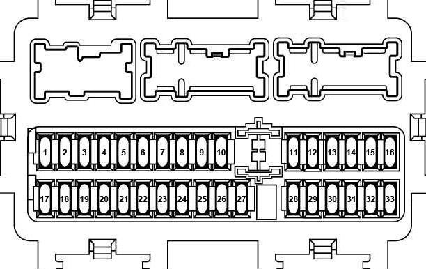 схема блока в салоне икстрейл t32