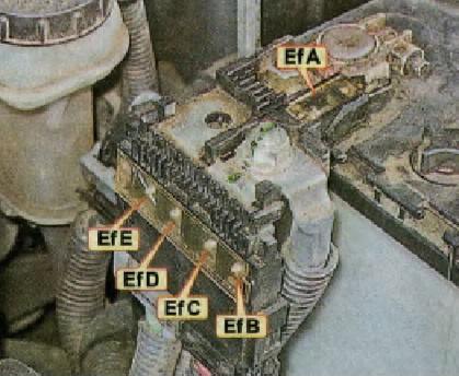 схема на клемме аккумулятора