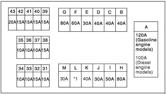 схема предохранителей под капотом 2