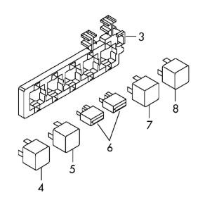Схема блока реле шкода октавия а5