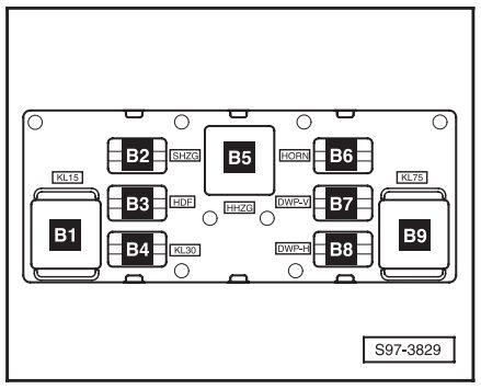 Схема блока с реле шкода октавия а5